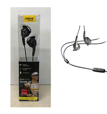 JABRA Active Corded SPORTS GYM JOGGING Earphones Headphones MIC IPhone Android • 8.99£
