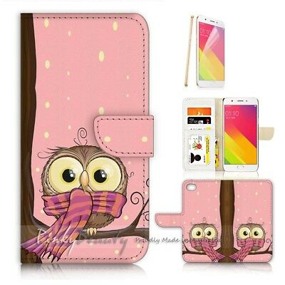 AU12.99 • Buy ( For Oppo A57 ) Wallet Case Cover P21252 Cute Owl
