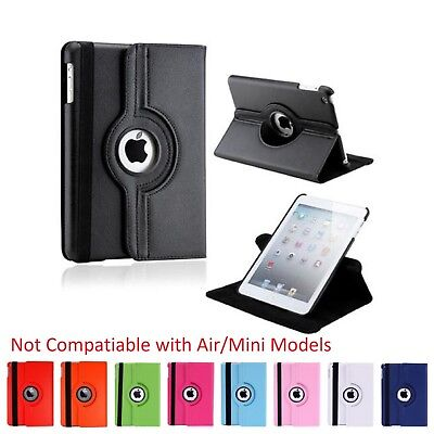 $6.95 • Buy Apple IPad 2 / 3 / 4 Leather Case - Rotates 360 Degrees Magnetic Cover Stand