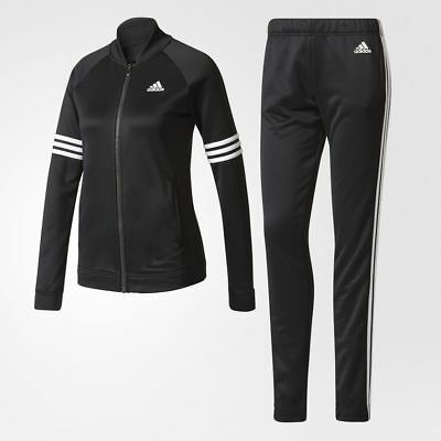 $109.98 • Buy New* Adidas Women's Bs2621 Cozy Track Suit Black White Jacket & Pant Set