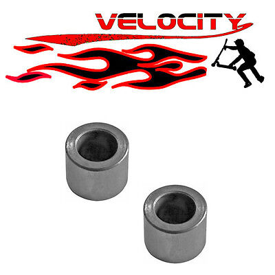 2 X Stunt Scooter Skate Skateboard Metal Core Wheel Axle Spacers 10mm Clamp Fork • 2.99£