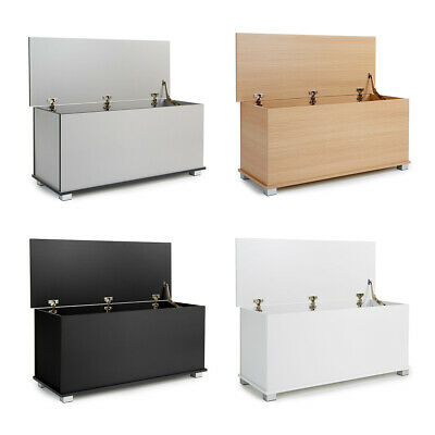 Ottoman Storage Trunk Toy Chest Bedding Or Blanket Box Large Wooden Malmo • 38.99£