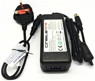 12v Mikomi, JVC, Toshiba, Logik TV Ac-dc Power Supply Unit Adapter With Cable • 15.99£
