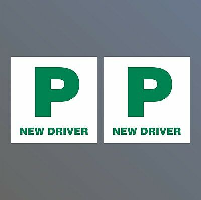2x Legal P Plates New Driver Legal Stickers Sign Passed Pass Car Learner  • 3.15£