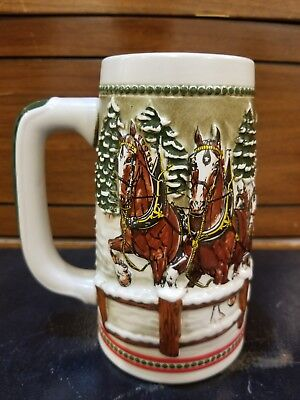 $ CDN26.18 • Buy 1984 Budweiser Holiday Stein Snowy Winter's Eve