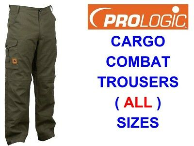 Prologic Green Cargo Trousers For Carp Fishing Hunting Combat Shooting Hiking • 33.85£