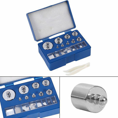 £8.99 • Buy 17pcs Scale Calibration Weight Set Includes 100-50-20-10-5-2-1g,500-200-100mg