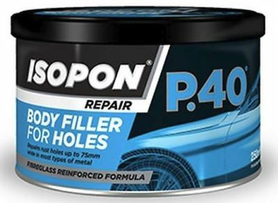 Davids Isopon P40 250ml Fibre Glass Body Filler Durable Water Proof • 8.99£