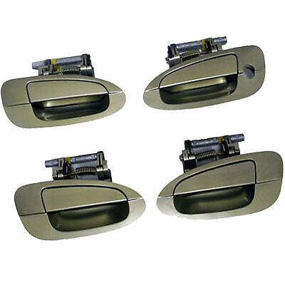 $83.38 • Buy For 02-06 NISSAN ALTIMA F & R Outside Door Handle Champagne Gold Set 4 DS244