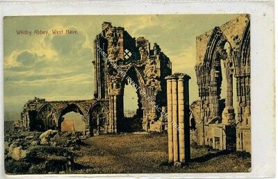(Ga8465-477) WHITBY Abbey, West Nave,  Unused VG  J T Ross • 4£
