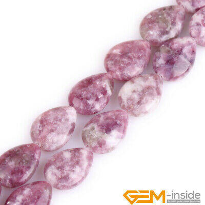 $8.46 • Buy Natural Purple Lepidolite Gemstone Loose Spacer Beads For Jewelry Making 15  YB