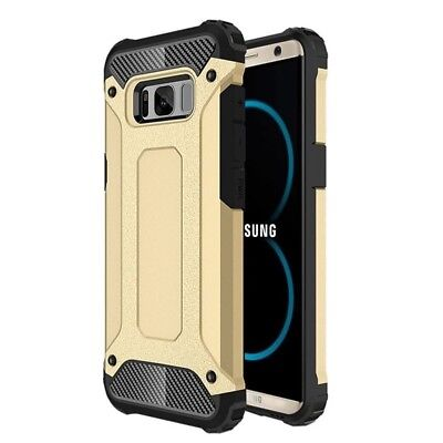 $ CDN8.76 • Buy Gold Hybrid Armour Case For Samsung Galaxy S8 Shockproof Back Protection Cover