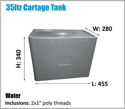 AU115 • Buy Water Tank. 35ltr 4x4 Ute Compact Bpa Free Potable Water. Ask For Freight Price.