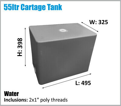 AU121 • Buy 55ltr. Aussie Made. Camping.water Tank. Ute Toyota Nissan Etc Ask Freight Price.