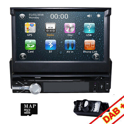 AU249 • Buy 1 DIN Car DVD GPS Head Unit With Reversing Camera - 7 Inch Flip Out Touchscreen