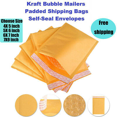 $ CDN3.36 • Buy Kraft Bubble Mailers - Yellow Padded Mailing Bags - Paper Shipping Envelopes