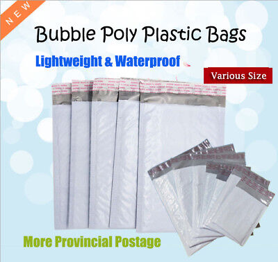 $ CDN2.67 • Buy 5Pcs Bubble Poly Plastic Bags Mailers Padded Envelope Mailing Packaging 21 Sizes