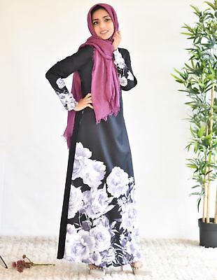 AU34.95 • Buy Pink & Black Floral Abaya / Dress