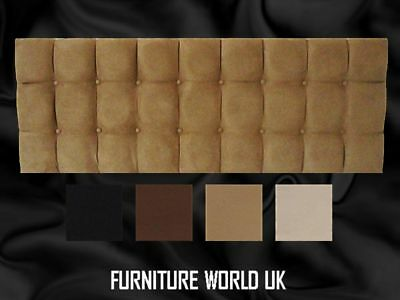 Monaco All Colours S.Double Bed Headboard 4' Faux Suede • 45£
