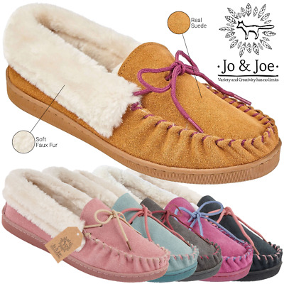Ladies Moccasin Slippers Ladies Moccasins Ladies Leather Moccasin Slippers • 13.97£