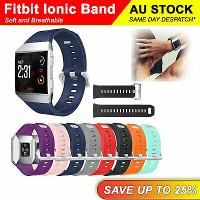 AU6.19 • Buy Fitbit Ionic Replacement Silicone Watch Wrist Sports Band Strap Wristband 22mm