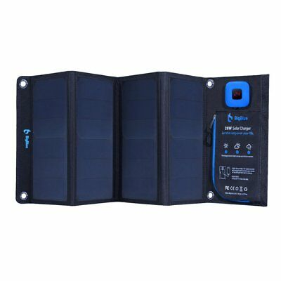 New Bigblue 5v 28w Solar Panel Charger W/ Dual Usb For Iphone, Galaxy & More • 86.17£