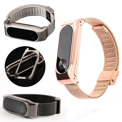 AU9.91 • Buy For Xiaomi Mi Band 2 Smart Bracelet Stainless Steel Watch Band Strap Metal Bs CA