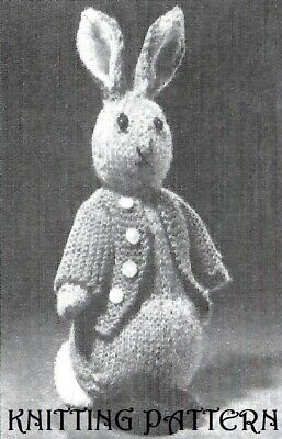 Beatrix Potter Peter Rabbit Toy Vintage KNITTING PATTERN  • 2.45£