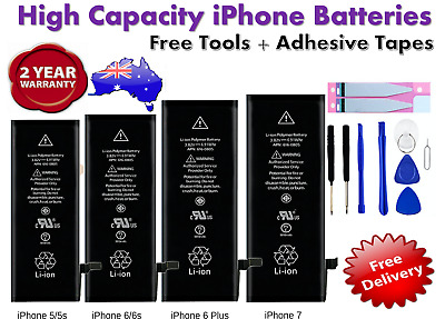 AU15.88 • Buy NEW High Capacity OEM Battery Replacement For IPhone 5 6 6S 7 Plus 8 + X