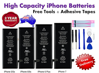 AU13.38 • Buy NEW High Capacity OEM Battery Replacement For IPhone 5 6 6S 7 Plus 8 8+ X  AU
