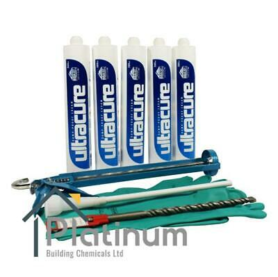 £41.25 • Buy ULTRACURE Damp Proof Cream Kit (5 X 380ml Kit) | DPC Course Injection Treatment