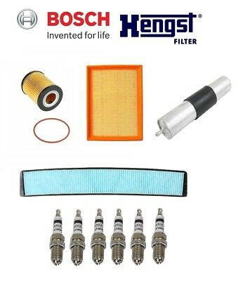$99.94 • Buy BMW E46 323Ci 323i 328Ci 328i Cabin Air, Fuel, Oil Filters & Spark Plugs Kit