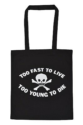 £7.50 • Buy Too Fast To Live Too Young To Die Cotton Tote Bag Seditionaries Punk Rock 1977