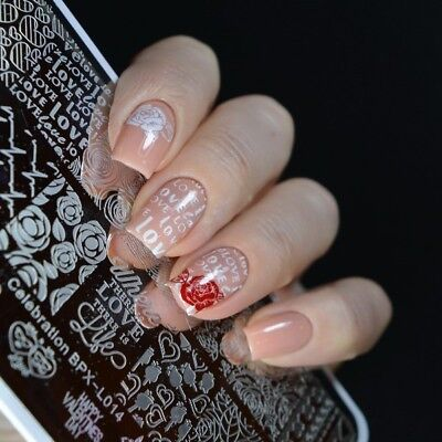 $6.99 • Buy Valentine's Day Celebration DIY Manicure Nail Art Stamping Image Plate Template