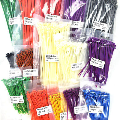 1500 PIECE ASSORTED CABLE TIES KIT - ZIP TIE WRAPS VARIOUS SIZES And COLOURS • 10.99£