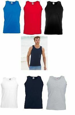 £14.95 • Buy Fruit Of The Loom 100% Cotton*5 Or 3 Packs  Valueweight  Sleeveless  Vest New