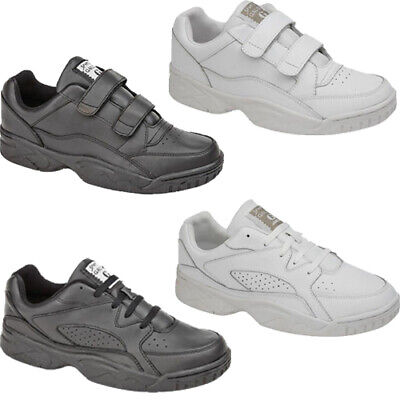 Mens New Casual Leather Wide Fitting Gym Running Walking Driving Trainer Shoes • 21.95£