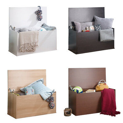 £45.99 • Buy Ottoman Storage Trunk Toy Chest Bedding Or Blanket Box Compact Wooden Panama