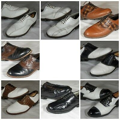 $120 • Buy Used Mens Footjoy Classics Vintage Leather Golf Shoes Dry Premiere 12 B C D