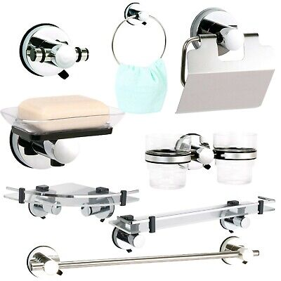 Axis Super Suction Wall Mounted Bathroom Accessories, No Drilling Required • 16.50£