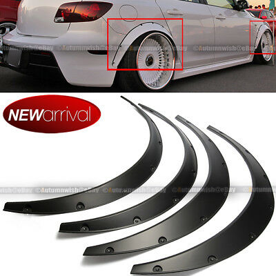 $32.99 • Buy Will Fit Mustang Wheel Fender Flares Wide Body Flexible ABS Plastic Universal