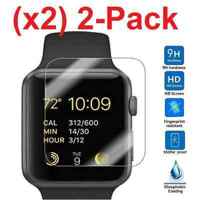 $ CDN2.49 • Buy 2-PACK Tempered Glass Screen Protector For Apple Watch ( Series 2 ) 38mm/42mm