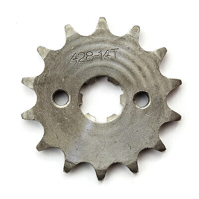£3.99 • Buy Front Sprocket 14 Tooth 17mm 428 Chain Pitbike Dirtbike 110cc 125cc 140cc 150cc