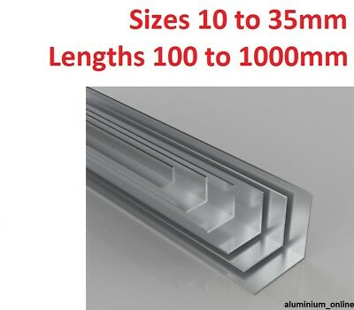 £10.70 • Buy ALUMINIUM EQUAL ANGLE 10mm 13mm 16mm 19mm 22mm 25mm 29mm 32mm 35mm Select Size