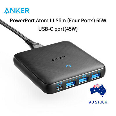 AU56.69 • Buy Anker Quick Wall Charger 3.0 PowerPort Speed 5 63W PowerIQ USB  AU Version