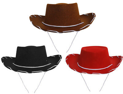 Kids Cowboy Hat 52cm Childrens Cowgirl Fancy Dress Costume Childs Outfit  • 1.99£