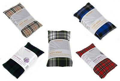 Tartan Microwave Herbal Wheat Heat Bag Unscented Pain Relief Hot & Cold Therapy • 5.65£