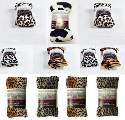 Animal Print Herbal Wheat Bag Microwave Unscented Heat Cold Therapy Pain Relief • 5.95£