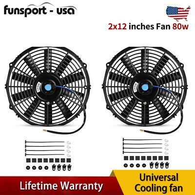 $29.90 • Buy Dual 12inch Electric Radiator Cooling Fans Reversible Kits For Lincoln MKT 2018