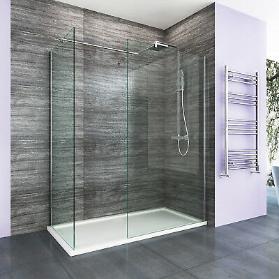 Walk In Shower Enclosure 8mm Easy Clean Glass Wet Room Cubicle Screen Panel  • 188.99£